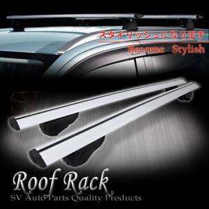 Universal Roof Rack Key Lock Cross Bar Top Rail Mount Aerodynamic Cargo Carrier