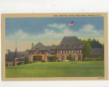Asheville Country Club House NC Vintage USA Postcard 508a