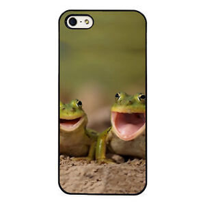 Laughing frogs plastic phone Case Fits iPhone 5 6 7 8 X