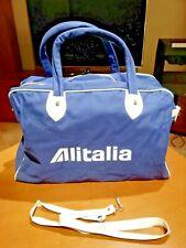Borsone da viaggio ALITALIA a 2 manici - OLD BAG - vintage 60' 70'