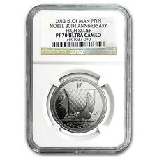 2013 Isle of Man 1 oz Platinum Noble PF-70 NGC (High Relief) - SKU #96261