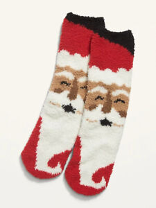 Old Navy Holiday Puppy Fuzzy Cozy Socks Women/'s NEW with Tag