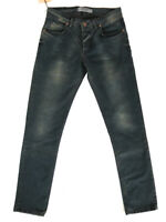 Herren Designer Slim Fit Super Stretch Jeans Hose Blau - W30 L30 - 4191