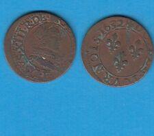 +gertbrolen+  Louis XIII  Double Tournois en  cuivre  1632 Tours