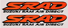 2 x SRAD Suzuki Decals / Graphics / Stickers Orange /. Black