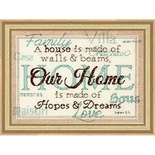 Counted Cross Stitch Kit HOME Dimensions