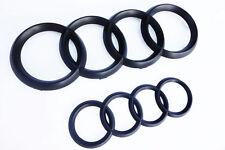 Audi Rings Matte Black Grill + Trunk A3 S3 A4 S4 RS4 A5 S5 A6 S6 TT Badge Emblem