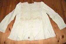 Alte Antike Damen Bluse Hemd mit Spitze Leibwäsche warm Trachten vor 1945 (180)