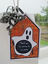 5 Personalised Halloween trick or treat Label gift tags party bags stickers