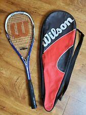 "Wilson Hyper Titanium X-Five Squash Racket 27"" w/ bag"