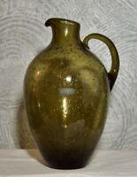 Sehr schöne Vase Krug Rauch Glas der Firma Füger Taube 1960