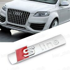 Audi S line chrome Aluminum Badge A1 A3 A4 A5 A6 A7 A8 TT Q3 Q5 Q7 RS all