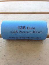 Orginalrolle 25 x 5 Euro Sammlermünze Subtropische  Zone Stgl. F wie ausgegeben