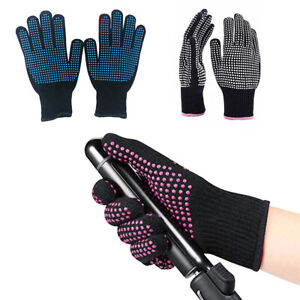 1x Heat Resistant Protective Gloves Adult Hair Curling Tongs Wand Straightener