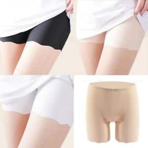 Women Solid Color Ultra Thin Elastic Short Leggings Ladies Under Safety Pants