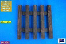 Handmade Natural Wood Japanese Style Hot Pot Hot Resistant Mat 18cm x 18cm (M)