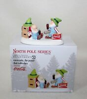 """Brand New Dept 56 & North Pole Village Accessories  """"THE PAUSE THAT REFRESHES"""""""