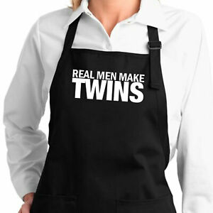 Real Men Make Twins Gift New Dad Dad Life Daddy Papa Apron Cooking Grill