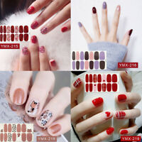 Women Nail Art Polish Wraps Waterproof Stickers Adhesive Manicure Decal Strip HL