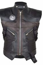 Hawkeye Vest Leather The Avengers Jeremy , FAUX Leather Jacket.
