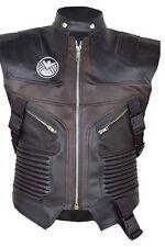 Chaleco de cuero de los Vengadores Hawkeye Jeremy, chaqueta de cuero de imitación.