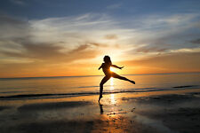2017 8X10 PHOTO SUNSET DANCER BALLET MARCO ISLAND TIGERTAIL BEACH FLORIDA USA 1