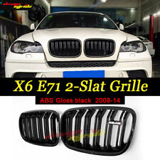 Injection mold M Style Gloss Black Front Grille For BMW E71 Model X6 SUV 2008-14