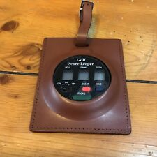 VTG Brookstone Electronic Score Keeper Genuine Leather Case