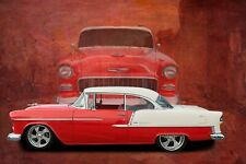 Chevy Chevrolet Retro 50's Car HD POSTER