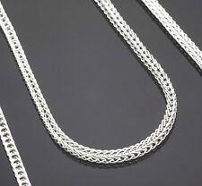 "5PCS Wholesale 16-30"" Jewelry Lot 925 Silver ""FOX TAIL"" Chain Necklace Pendant"