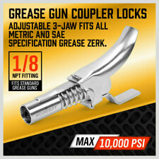 10000psi Quick Release grease Gun Coupler One Hand 1/8 NPT Fitting Push Trigger