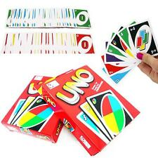 Standard Fun 108 UNO Playing Cards Game For Travel Family Friends Instruction UP