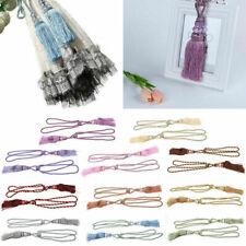 2pcs Curtain Tiebacks Tassel Rope Tie Back Curtain Holder Room Window Home Decor