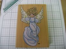 Stampendous Precious Moments Flute Angel UP005  wood mounted rubber stamp