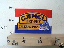 STICKER,DECAL CAMEL TROPHY 88 CELEBES 1988 LANDROVER ? DUTCH FLAG  A