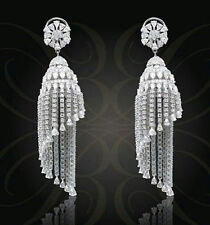10ct Dangle Earrings Cocktail 925 Sterling Silver White Chandelier Style Wedding