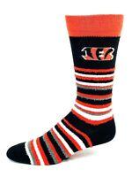 Cincinnati Bengals For Bare Feet Muchas Rayas Fuzzy Crew Socks