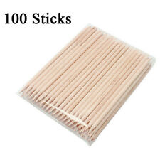 Wooden Wood Sticks for Nail Art Cuticle Pusher Remover Manicure Tool 100 pcs