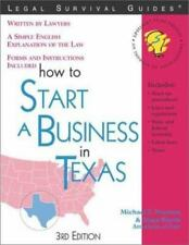 Legal Survival Guides: How to Start a Business in Texas by Michael T. Norman,...