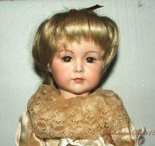 Vintage Repro Simon & Halbig Bisque Girl Glass Eyes Original Dress Doll