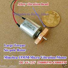 DC 6V-12V 15MM Minebea Vibration Motor Large Torque 6-Pole Rotor for Massager