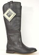 FRYE BOOTS Paige Tall Riding Dark Brown Calf Leather Boots 77535 SZ 6.5 $378