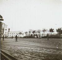 Italia Genoa Rive Del Muelle Aprox 1910 Foto Estéreo Placa De Cristal VR11z