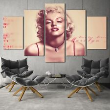 Marilyn monroe poster 5PCS HD Canvas Print Home Decor Picture Wall Art Painting