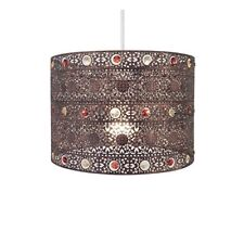 Antique Bronze Gem Moroccan Style Chandelier Ceiling Light Shade Fitting, Plasti