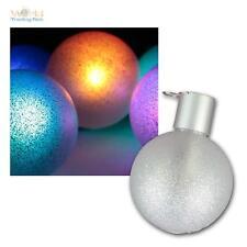 6er Set LED RGB Christbaumkugeln mit Fernbedienung, Weihnachtskugel Baumschmuck