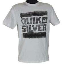 Quiksilver CLUTCH Tee White Size S Small Mens Boys Casual Surf Logo T-shirt