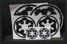 Two Star Wars Imperial Cog Decal 3 sizes and Various colours available