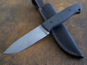 Y.A. Custom Knives Exklusives Messer Outdoor / Jagdmesser Balbach Damast 61-HRC