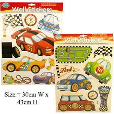 Child Kids Room Wall Stickers Cars Race Winner Bedroom Play Game Room Padgett